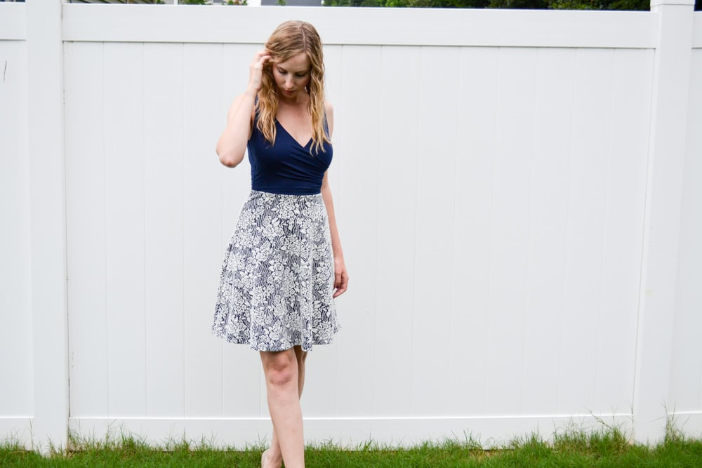 Stitch Fix Experience Navy A-line Dress
